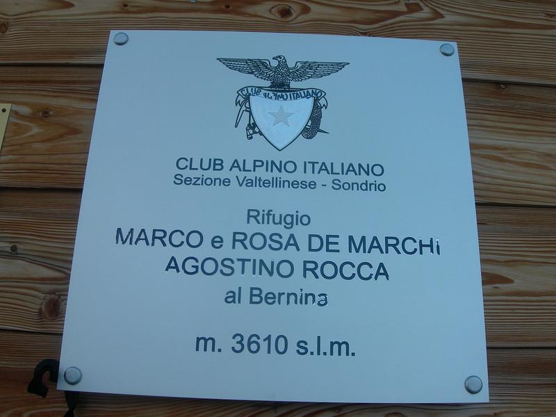 Rifugio Marco e Rosa 3610m.