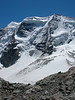 East summit.3882m.,Piz Palu 3901m and P. Spinas 3823m. (view from N)
