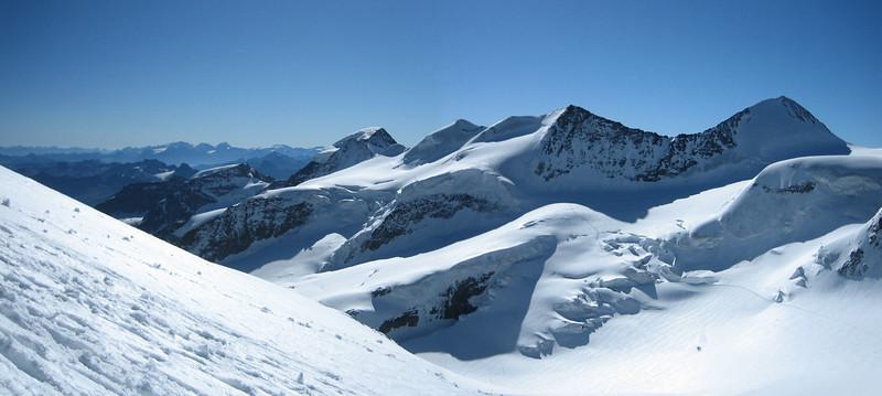 Panoramaview Bernina from Rif. Marco e Rosa