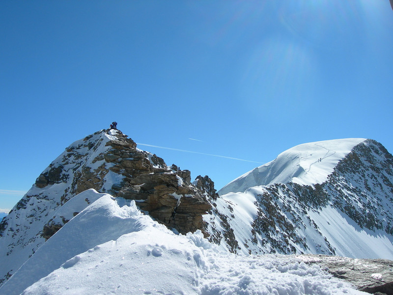 Piz Spinas (West summit) and Piz Palu (mainsummit)