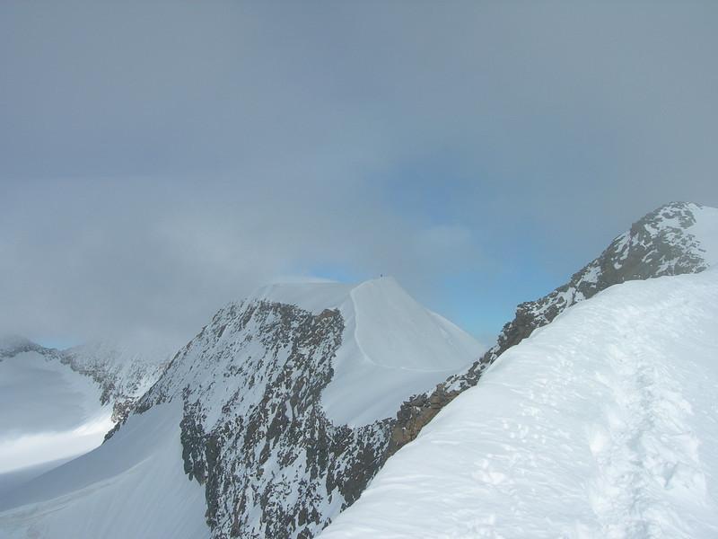 Main summit and East summit of Piz Palu