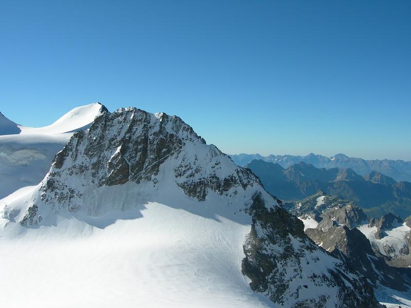 Piz Argient 3945m. and Crast Aguzza 3854m. (hut vieuw)