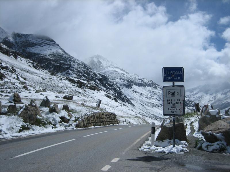Julierpass 2284m. (snowcovered)