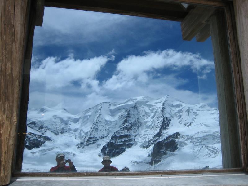 window of Diavolezza 2973m