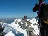 Climbers of Piz Bernina via Biancograat (summit Piz Bernina 4048m.)