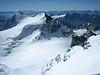 Piz Zupo 3996m., Piz Argient 3945m. and Crast' Aguzzo 3854m. (S.E. view from Piz Bernina)