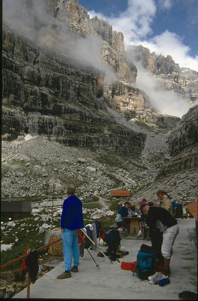 Cor de Visser near the hut (Rifugio Brentei, 2182m.)