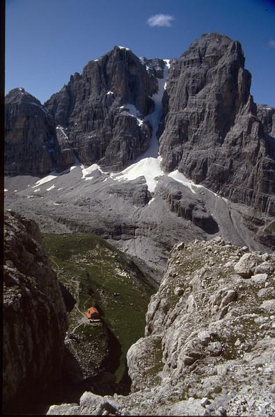 landscape with Rifugio Brentei, 2182m.