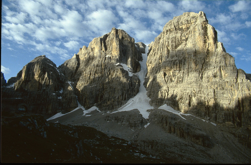 Cima Tosa 3173m and Crozzom 3135m. (Dolomiti di Brenta)