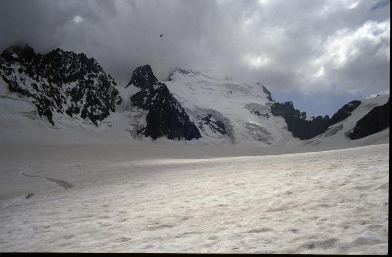 Glacier Blanc and Barre des Ecrins 4102m. (the Ecrins 1992)
