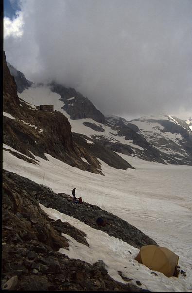 Refuge Glacier Blanc and Glacier Blanc (the Ecrins 1993)