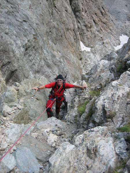 (descent of Mont Pelvoux )