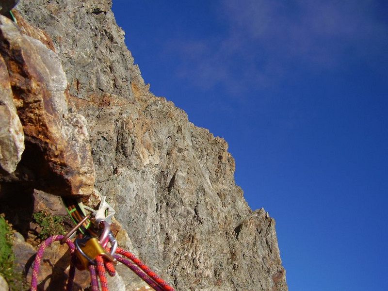 rappel (descent of  Mont Pelvoux )
