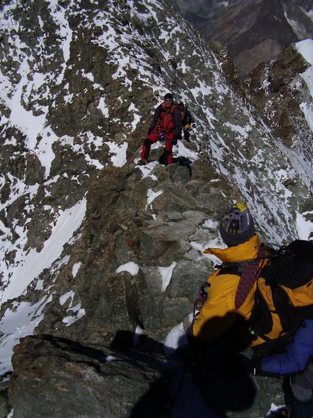(ascent of Barre des Ecrins 4102m.)