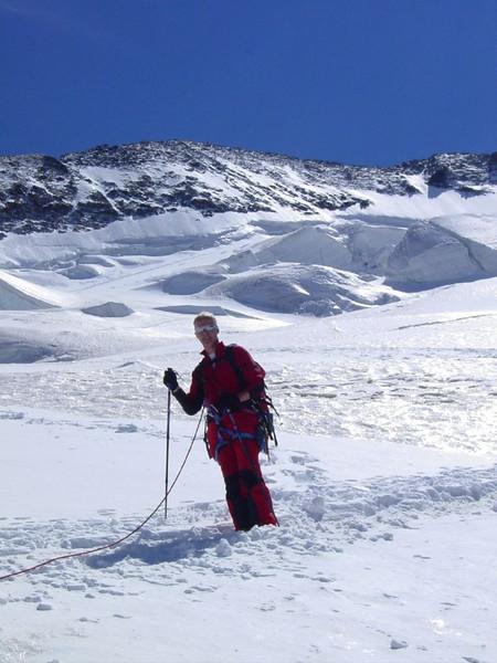 descent of the Barre des Ecrins 4102m.
