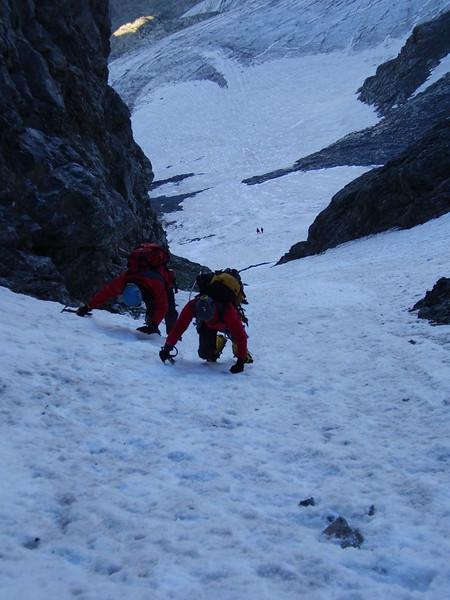 couloir (ascent of Mont Pelvoux 3943m.)