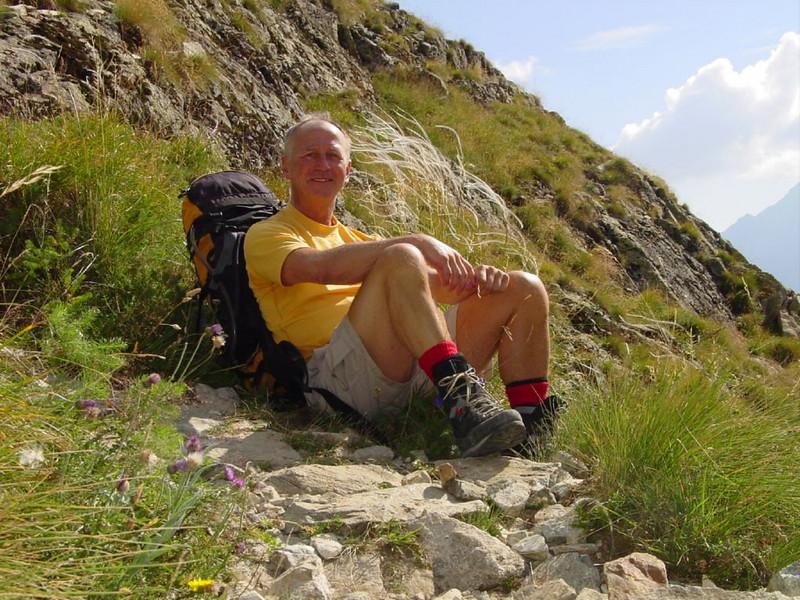 ascent to the Refuge du Pelvoux 2700m.