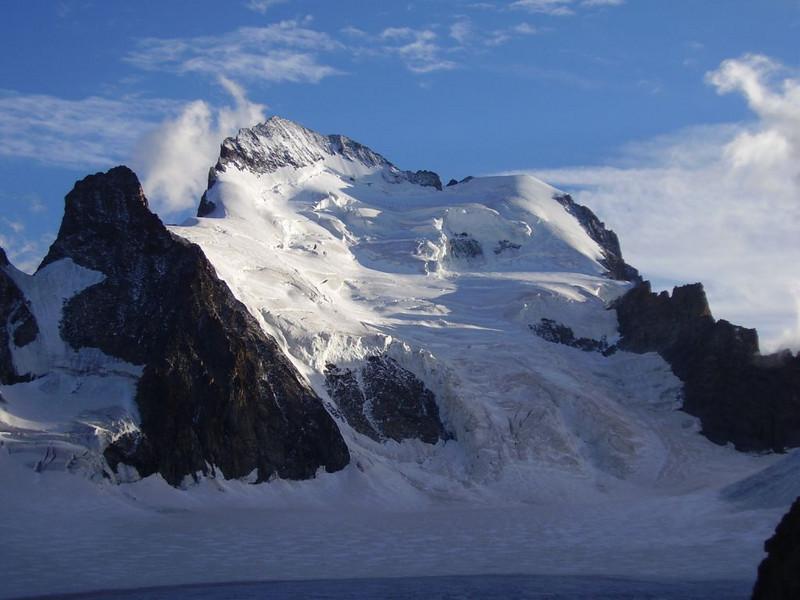 Glacier Blanc and Barre des Ecrins 4102m.