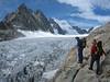Glacier Blanc, Mnt. Pelvoux and Barre des Ecrins (ascent to Refuge des Ecrins 3175m.)