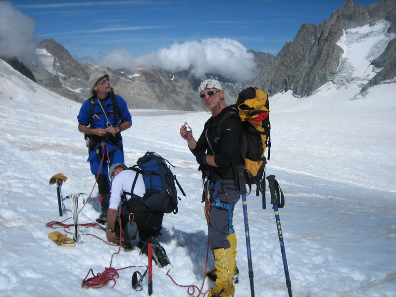 descent of Barre des Ecrins (Glacier Blanc)