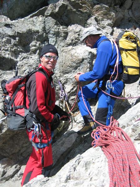 rappel, (descent of Mont Pelvoux )