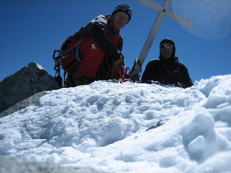 summit of Barre des Ecrins 4102m