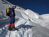 the ascent to Barre des Ecrins 4102m.
