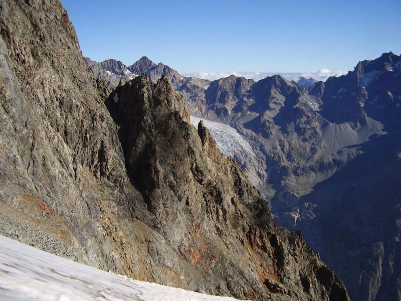 view (descent of  Mont Pelvoux )