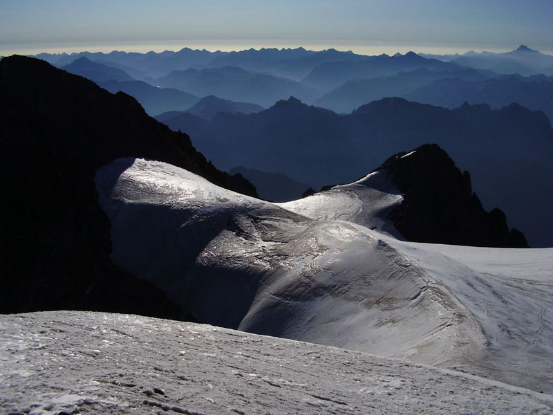 view from  Mont Pelvoux 3943m.
