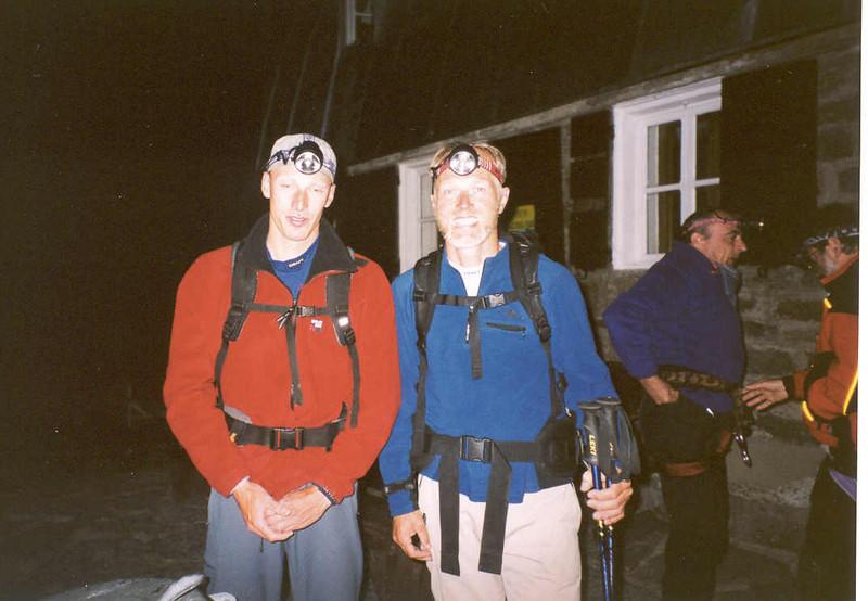 29 July 4.50 AM ascent to the Ciarforon 3642m (Gran Paradiso, Italy 2002)