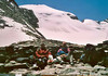Ghiacciaio del Trajo (glacier) and bivouac Gratton 3198m. (Gran Paradiso, Italy 2002)