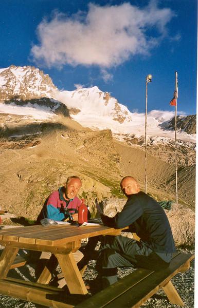 28 july rest day  Rif. Vittorio Sella  2584m. (Gran Paradiso, Italy 2002)
