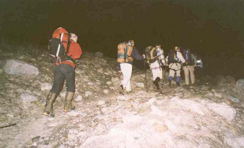 Ghiacciaio de Laveciau, ascent Gran Paradiso 4061m. (Gran Paradiso, Italy 2002)