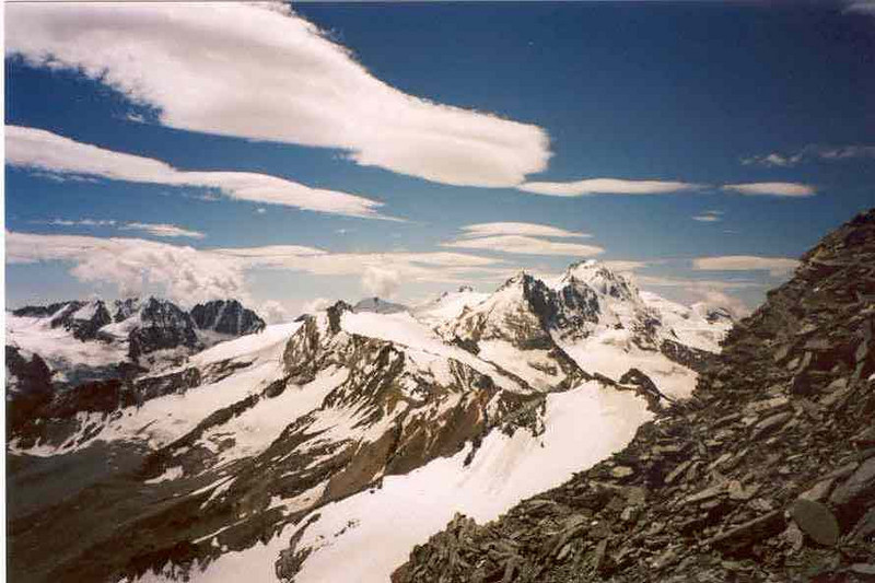 view on the Gran Paradiso (Gran Paradiso, Italy 2002)