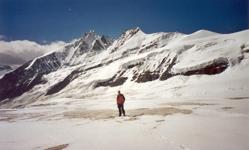 10 Aug. C II  Oberes Pasterzenkees and Gross Glockner 3798m. (Hohe Tauern, Snow and Ice II, 2000)