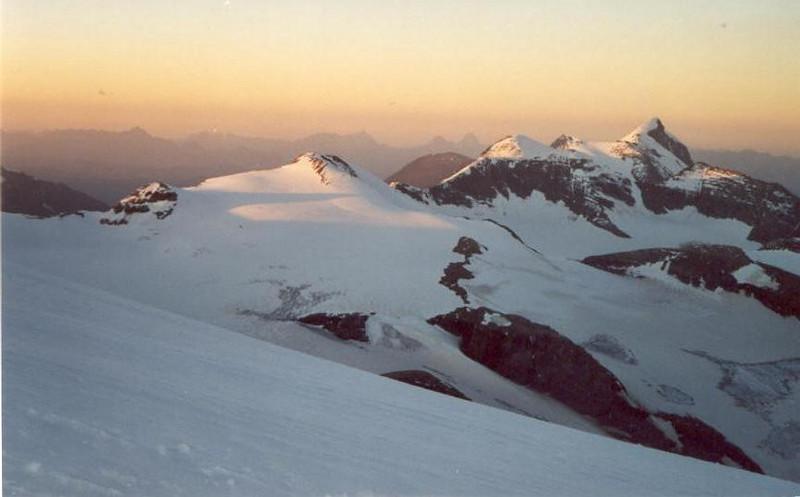19.00 PM. descent Gross Glockner 3798m. (Gross Glockner 2000)