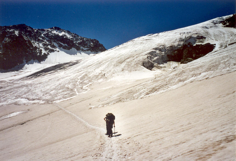 Hofmannsweg on the Hofmanns glacier (Gross Glockner 2000)