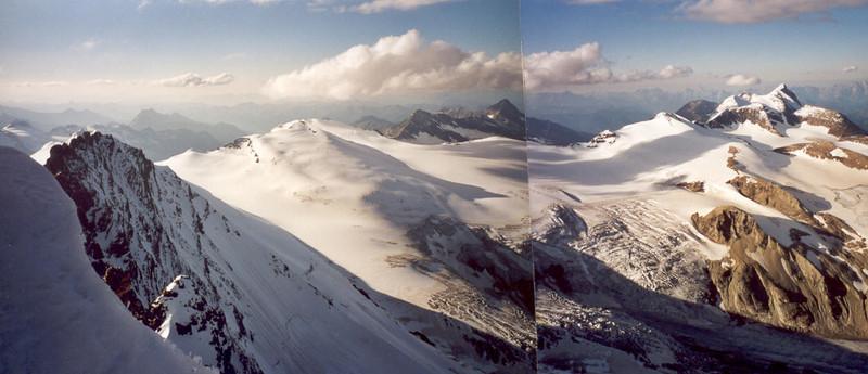 North view from the summit Gross Glockner 3798m. (Gross Glockner 2000)