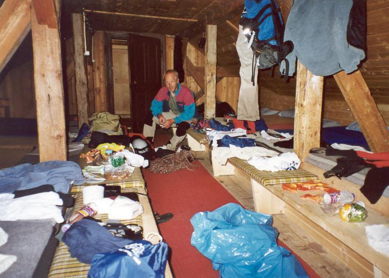 lager,Glockner Haus and the preparations for going home (Gross Glockner 2000)