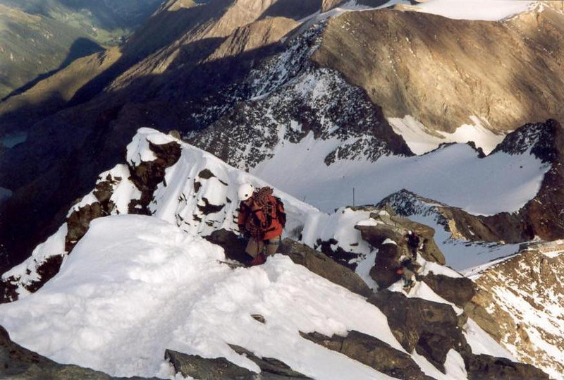 ascent Klein Glockner 3783m. (Gross Glockner 2000)