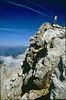 summit Hochstuhl (VRH Stol) 2236m. (Julian Alps, yougoslavia 1987)