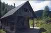 10 Aug. Almhut Mitzl-Motzl-Moitzl Hut 1525m. (Karawanken Austria 1987)