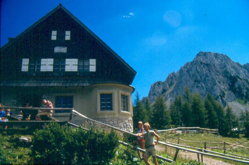 17 Aug. Klagenfurter Hutte 1664m. - Hochstuhl 2236m. with Saskia see Julian Alps (Karawanken Austria / Yougoslavia1987)