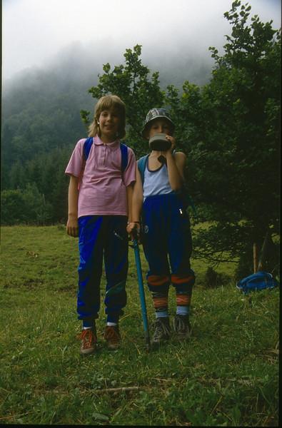 the mountaineers Saskia and Jeroen (Karawanken Austria 1987)