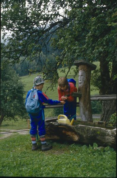 10 Aug. tour via Almhut to the Mallestiger Mittagskogel 1816m. (Karawanken Austria 1987)