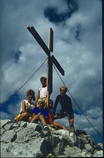13 Aug. summit Ferlacher spitze 1739m. (Karawanken Austria 1987)