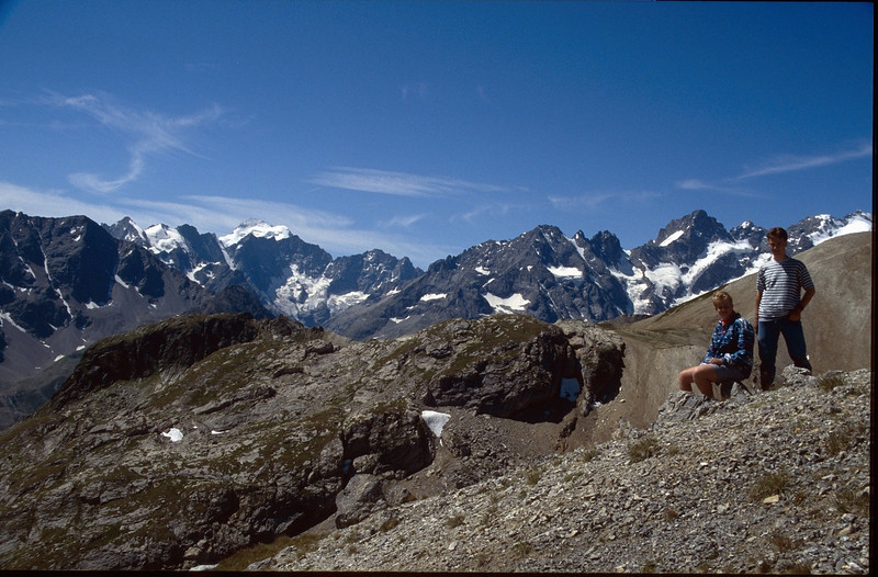 view from the Vanoise at the Ecrin mountains (La Vanoise, France 1998)