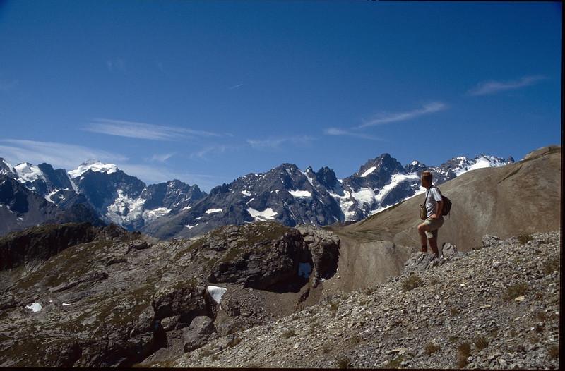 view at the Ecrin (La Vanoise, France 1998)