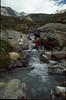 rivercrossing near Rif. la Dent Parrachee CAF, 2511m. (La Vanoise, France 1998)