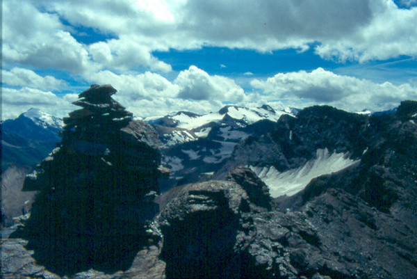view from the Vanoise mountains on the Ecrin (La Vanoise, France 1996)